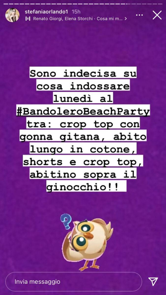 12:00 – Stefania Orlando: cosa indosserà alla festa con i fan?